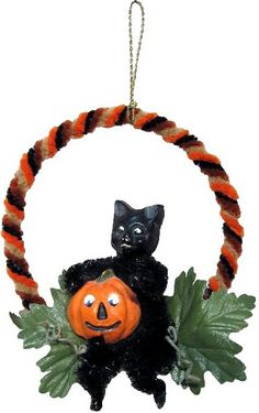 Mixed Media Sculpture Ornament Inspired by Vintage Japanese and German… Halloween Witch Decorations, Halloween Ornaments, Diy Halloween Costumes, Holidays Halloween, Holiday Ornaments, Halloween Ideas, Halloween Queen, Retro Halloween, Halloween 2018