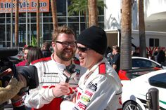 Rutledge Wood interviews Adam Carolla at the 2012 Toyota Pro/Celebrity Race in Long Beach. #TPCR