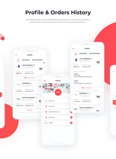The app helps patients find medicines available in the pharmacies nearby, make the purchase and get the drugs delivered. Mobile App Ui, Mobile App Design, Web Development Company, Ui Ux, Ios App, Pharmacy, Drugs, Medicine, Presentation