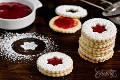 Strawberry Cardamom Linzer Cookies :: Home Cooking Adventure