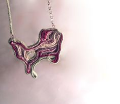 Crochet necklace  'Spring island' by Fnine on Etsy, $32.00