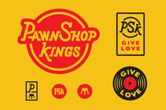 Pawn Shop Kings logo and branding by Amy Hood of Hoodzpah. Custom lettering.  #logo #branding #identitysystem #music #poster #lettering #customlettering