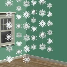 1 Set Christmas Snowflake String Decorations White Christmas Ornament enfeites para arvore de natal