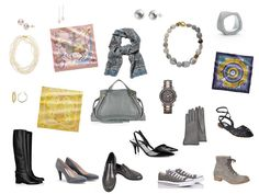 The Vivienne Files: Accessories for the ORIGINAL French Chic wardrobe: Square scarves – Hermès Handbag Hammered silver stud earrings Stone necklace Silver bangle bracelet Pink pearl necklace Pink pearl stud earrings Pink pearl drop earrings Sterling and yellow citrine hoop earrings Watch Tall boots Black sling-backs Gloves Paisley muffler Gray suede pumps Gray penny loafers Gray short laced boot Navy flat sandals Athletic shoes