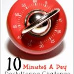 Get Organized! Join us for the 10 Minutes A Day Decluttering Challenge at ThePeacefulMom.com! #organize #declutter