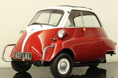 The Isetta - one of the most successful microcars produced in post-World War II, when cheap, short-distance transport was most needed across Europe. In 1957, Isetta of Great Britain began producing Isetta 300 models (@ former Brighton railway works under license from BMW). These particular cars have the unique single rear wheel as opposed to the twin so that owners could register them as motorcycles and avoid higher taxes. Space for 2 people + luggage = ideal for the UK's urban and rural…