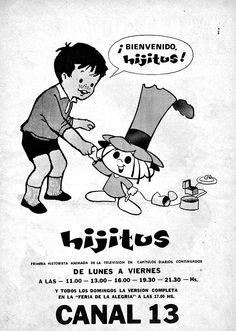 Llegada de la serie HIJITUS a CANAL 13, Buenos Aires, década del 60.