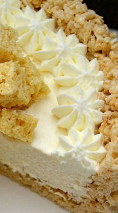 Rice Krispy Treat No Bake Cheesecake ~ This is pure, unadulterated RKT goodness.