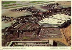 Philadelphia International Airport PHL 1970's Postcard