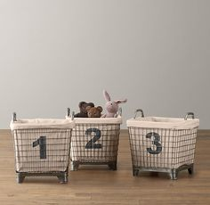 Industrial Baskets & Liners Set of 3