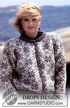 DROPS jakke i Alaska med nordisk stjernemønster. ~ DROPS Design