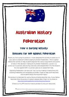 Australian Federation Reasons For and Against Year 6 Classroom, Classroom Ideas, Primary History, Persuasive Writing, Interactive Activities, Decision Making, Curriculum, Student, Songs