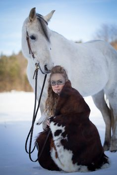 Styled tribal shoot with Lila the grey Arabian mare - photographed in Northern New Hampshire