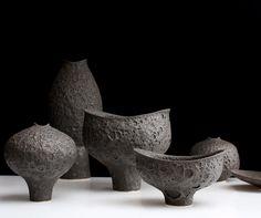 New Mihara footed vase and footed bowls. Premiering Sunday at NYNow, booth 4011…