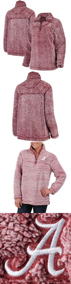 College-NCAA 24541: Alabama Crimson Tide Womens Bxc Sherpa Super Soft 1-4 Zip Pullover Outerwear -> BUY IT NOW ONLY: $64.99 on eBay!