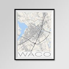Waco Texas map, Bayl