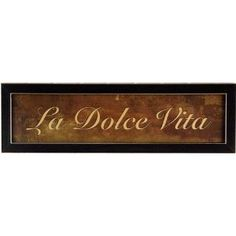 La Dolce Vita Italian Kitchen Decor Framed Print