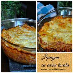 Lasagna cu carne tocata Bechamel, Lasagna, Pasta, Bologna, Ketchup, Carne, Quiche, Breakfast, Mascarpone