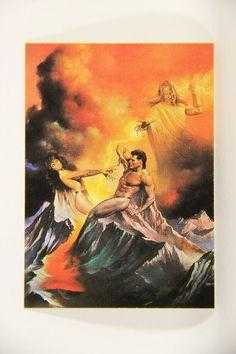 L010283 Boris Vallejo 1991 Card / Es And The Creation 1989 - Card #86 / ARTWORK