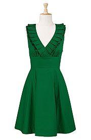 Ruffled surplice dress