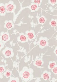 Ritva Kronlund: Kirsikkapuu tapetti / wallpaper 48,70 € rulla