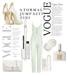 """""""Formal Jumpsuit"""" by fini-i ❤ liked on Polyvore featuring Giuseppe Zanotti, lilah b., Fresh, Tom Ford, Barry M and Bobbi Brown Cosmetics"""