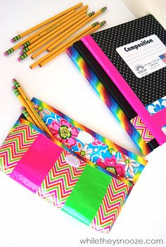 While They Snooze: How to Make a Duck Tape Pencil Case
