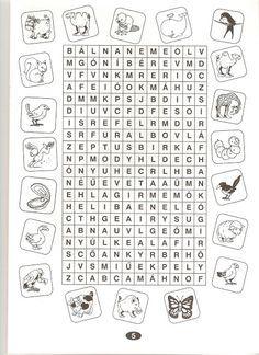 szokereso jatekok magyar gyerekeknek nyomtathato – Google претрага Dysgraphia, Dyslexia, Kids Corner, English Vocabulary, Teaching English, Coloring Pages For Kids, Holidays And Events, Special Education, Elementary Schools