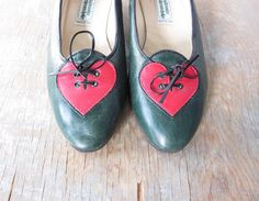 Vintage heart shoes from RustBeltThreads on Etsy