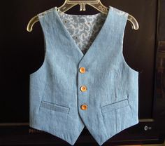 https://flic.kr/p/rrapgV | Art Museum Vest size 5 | My first try with this Oliver + S pattern.