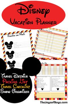 Planning a Disney vacation can be stressful.  This Disney Vacation Planner can help make things easier so you can just focus on the magic!