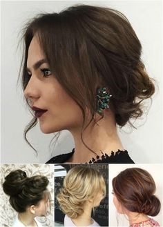 messy bun updos More
