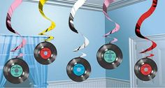 50's Party idea #records #partydecorations #50'sparty