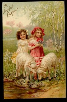 Vintage card ... A Joyful Easter