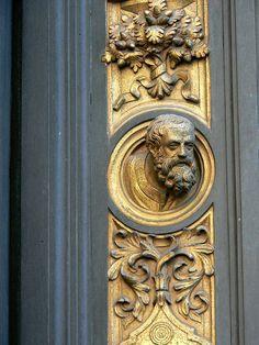 Golden Gates of Paradise by Lorenzo Ghiberti Gilt Bronze 1452 CE by mharrsch