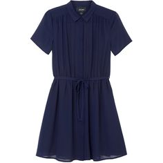 Monki Silvia dress ($21) ❤ liked on Polyvore featuring dresses, monki, sea shadow blue, blue summer dress, fancy dress, monki dresses and day summer dresses