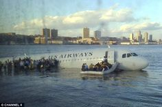 A still from a Channel 4 documentary about the remarkable emergency landing on the Hudson