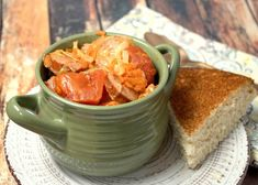 Comforting Cabbage Sausage Stew Cabbage and sausage in the same recipe? Cabbage Stew, Steamed Cabbage, Cabbage And Sausage, Roasted Cabbage, Cabbage Casserole, Boiled Cabbage, Cabbage Salad, Cabbage Recipes, Soup Recipes