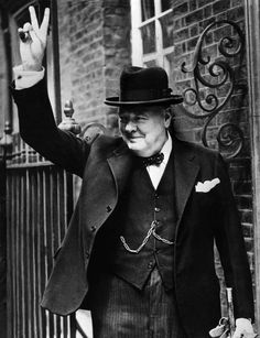 """Winston Churchill & """"V for Victory"""". WWll   Without him the world wouldn't the same. Thank-you Mr. Churchill."""