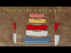Passo a passo Tabela de Tamanhos para Casaquinhos em Crochê - YouTube