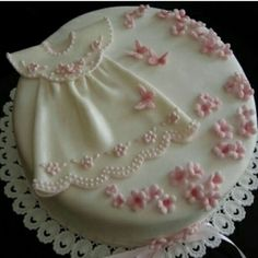 Christening Dress In Pink Taufkleid In Pink Quick saves (Visited 18 times, 1 visits today) Fondant Baby, Fondant Cakes, Cupcake Cakes, Gateau Baby Shower, Baby Shower Cakes, Christening Cake Girls, Baptism Cakes For Girls, Religious Cakes, Baby Girl Cakes