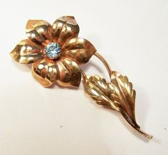 Vintage Harry Bick 12k Gold Filled Flower Pin by GretelsTreasures