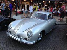 Silver Porsche 356 the color is amazig