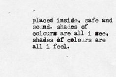 shades of colours | quote a lyric