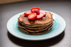 Oat Flour Peanut Butter Pancakes - The Pure Dish