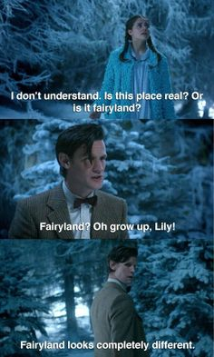 oh grow up, Lily! fairyland looks completely different! :)