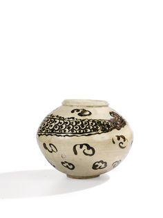 Jarre en porcelaine à décor brun de fer Corée, Dynastie Joseon Korean Art, Decoration, Auction, Prints, Brown, Iron, Porcelain, Decor, Korean Style