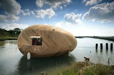 "Artist Lives in Egg-Shaped, Floating Micro-House for One Year To explore ""the meaning of place at a time of great environmental change"", artist Stephen Turner teamed up with the association of SPUD..."