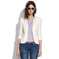 Nice linen blazer.