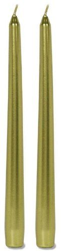 10 Inch Metallic Taper Candle Green 2 pcs Pk by Darice *** Learn more by visiting the image link.